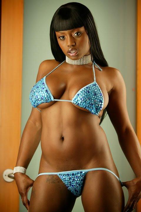 Jada Fire in a bikini
