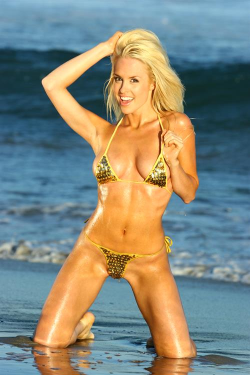 Lauren Thompson in a bikini