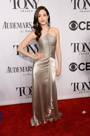 Emmy Rossum at 68th Annual Tony Awards at Radio City Music Hall June 8, 2014