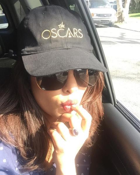 Priyanka Chopra taking a selfie