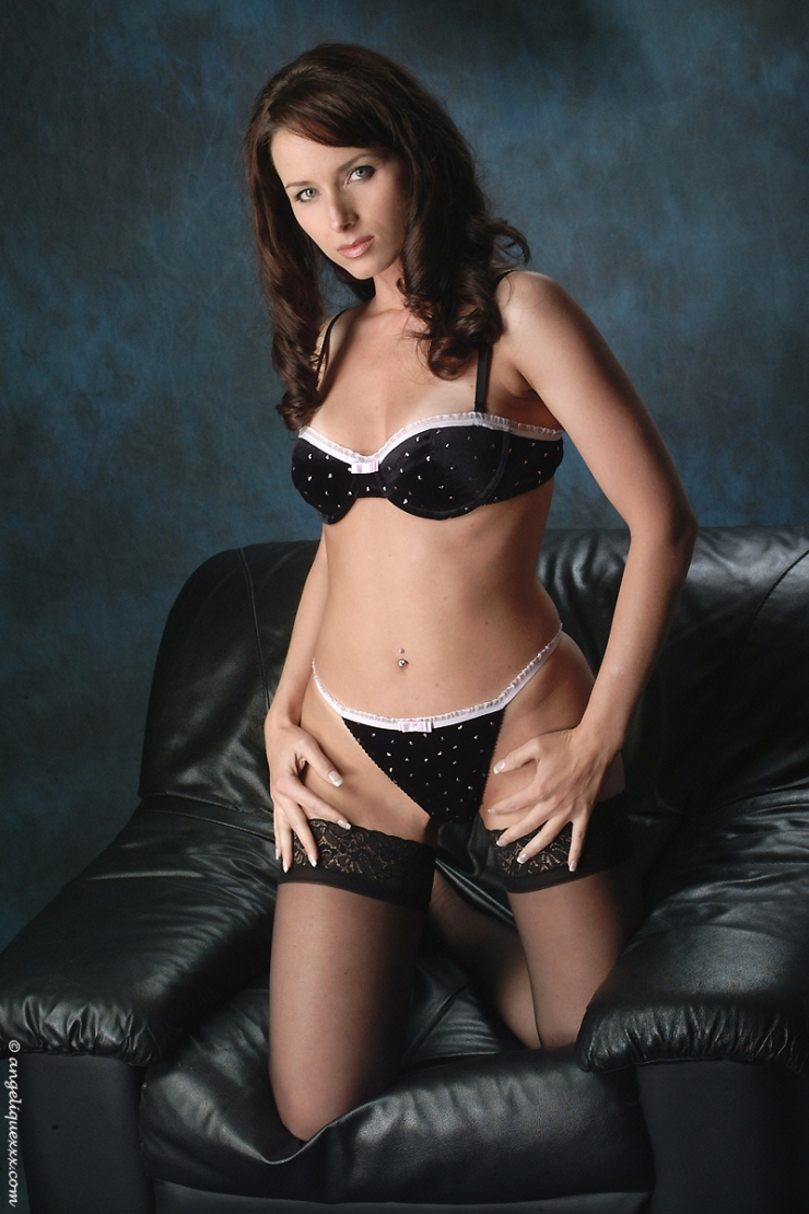 Angelique Leclair in lingerie