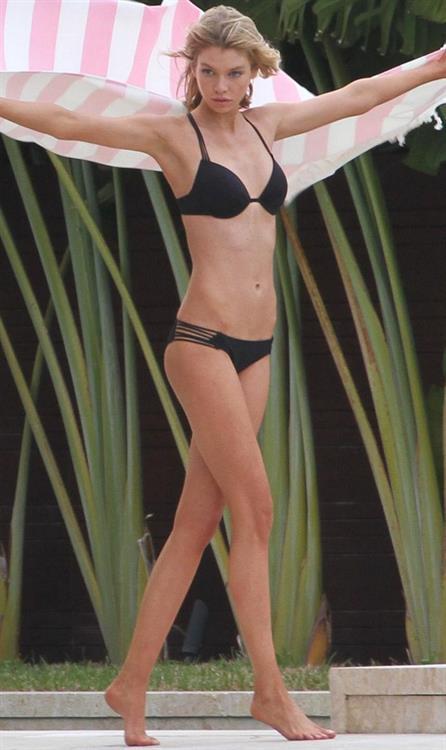 Stella Maxwell in a bikini in Miami