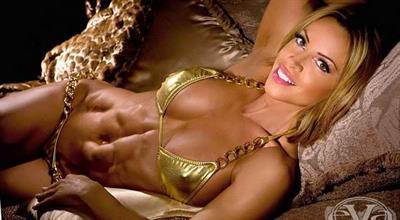 Ava Cowan in a bikini