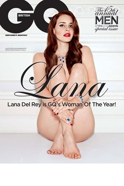 Lana Del Rey posed nude for the cover of British GQ Magazine