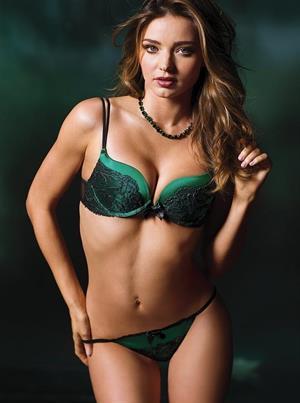 Miranda Kerr in Sexy Green Lingerie