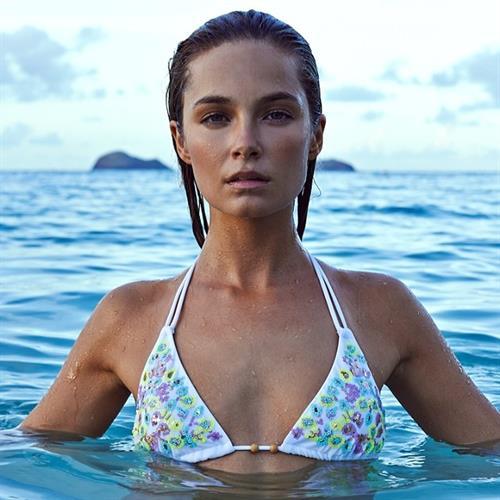 Bridget Malcolm in a bikini