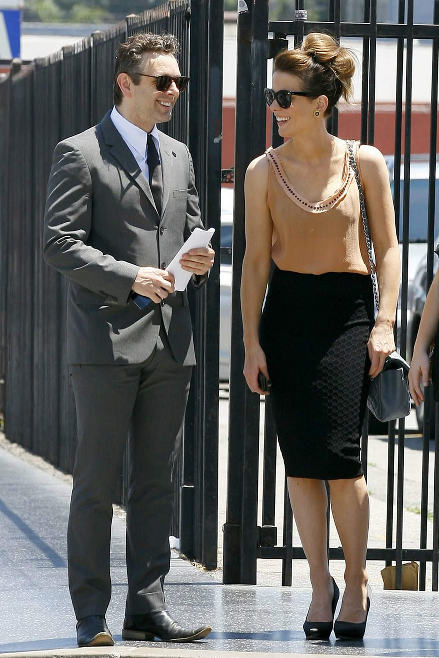 Kate Beckinsale in heels while heading to Pantages Theatre in Hollywood may 12-2013