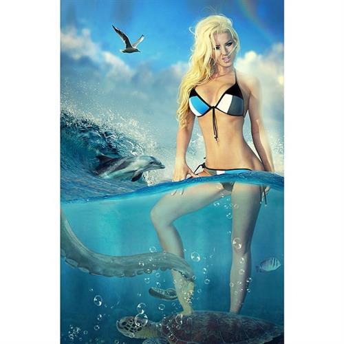 Sheala Foster in a bikini