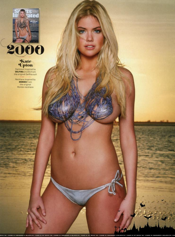 2013 Sports Illustrated Swimsuit Edition.  Kate Upton in body paint