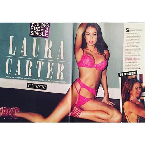 Laura Carter in lingerie