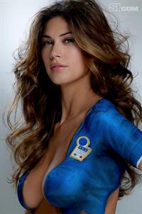 Melissa Satta in body paint