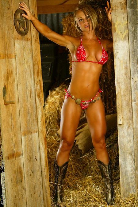 Jaime Eason in a bikini