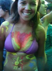 Lola in a bikini in body paint