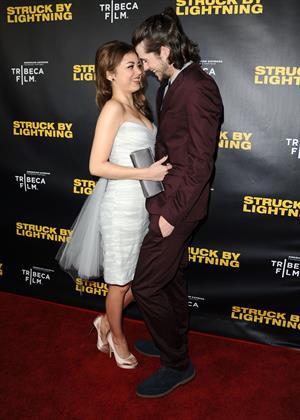 Sarah Hyland  Struck By Lightning  LA premiere 1/6/13