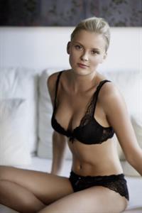 Petra Silander in lingerie
