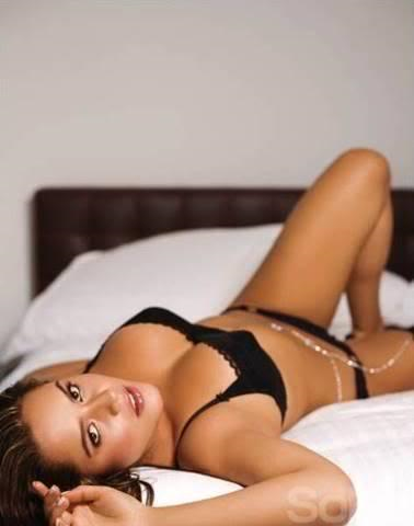 Ana Lucia Dominguez in lingerie