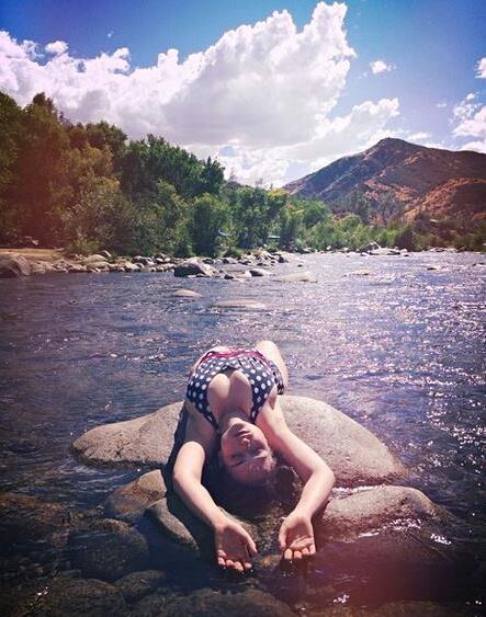Milana Vayntrub in a bikini