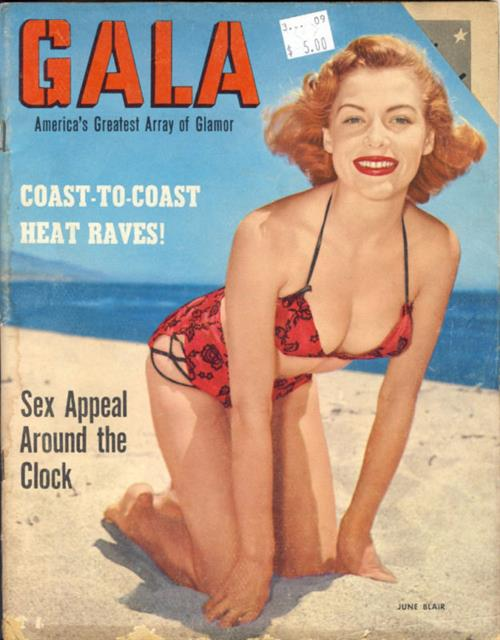 June Blair in a bikini