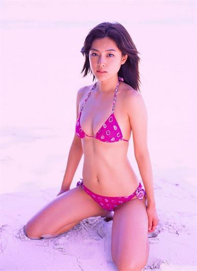 Ayumi Kinoshita in a bikini