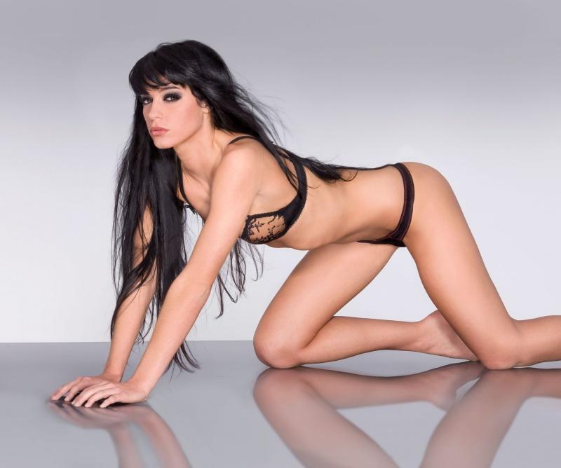 Kimama Bishop in lingerie