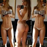 Anllela Sagra in lingerie taking a selfie and - ass