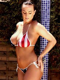 Stacey Poole in a bikini