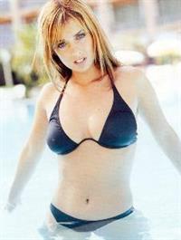 Louise Redknapp in a bikini