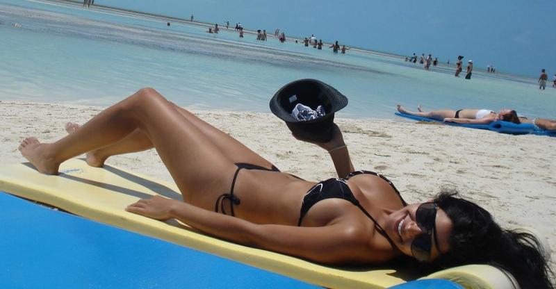 Karen Margarita Bray in a bikini