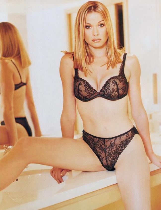 Lorri Bagley in lingerie