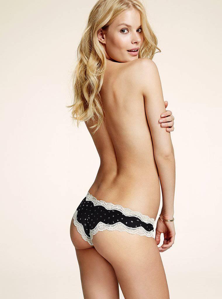 Alena Blohm in lingerie - ass