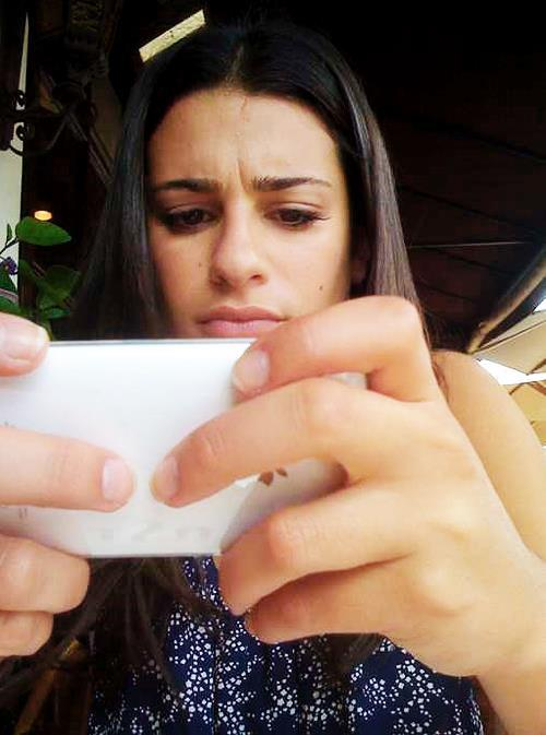 Lea Michele taking a selfie