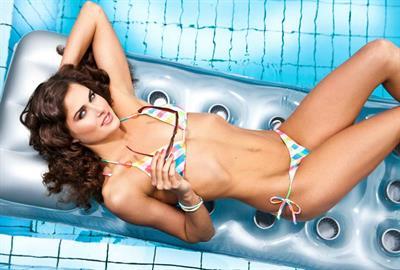 Zsuzsanna Jakabos in a bikini
