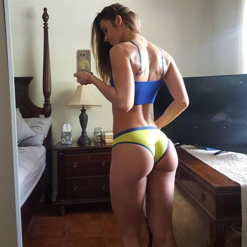 Valentina Lequeux in a bikini taking a selfie and - ass