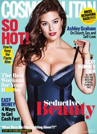 Ashley Graham is Cosmopolitan's super sexy cover girl.