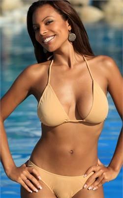 Chargers Fan in a bikini