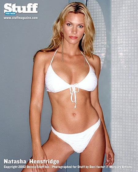 Natasha Henstridge in a bikini