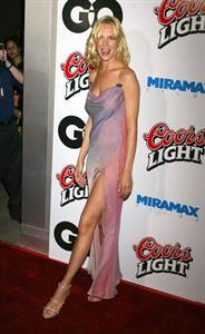 Uma Thurman in a purple dress