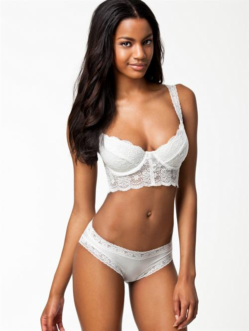 Ebonee Davis in lingerie