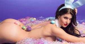Amanda Cerny as the Easter Bunny for Playboy