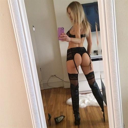 Paula Labaredas in lingerie taking a selfie and - ass