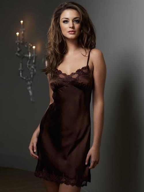 Violet Budd in lingerie