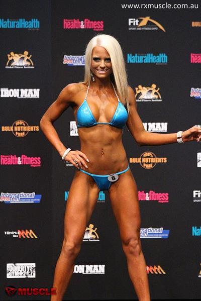 Prudence McEniery in a bikini