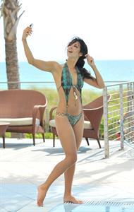 Leilani Dowding in a bikini