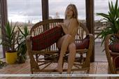 Viola Bailey masturbates on a wicker chair