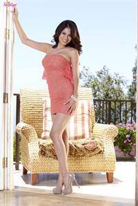 Vanessa Veracruz on the patio
