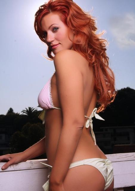 April Macie in a bikini - ass