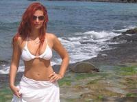 April Macie in a bikini