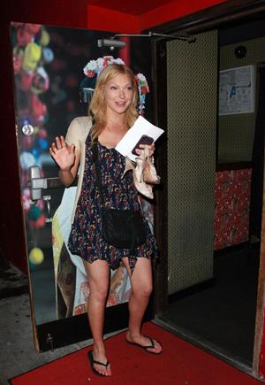 Laura Prepon leaves the Geisha House in Los Angeles, August 29, 2011