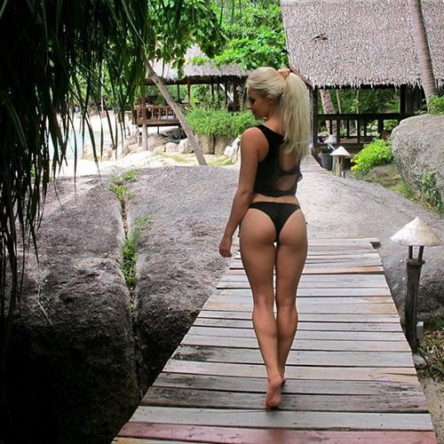 Anna Nyström in a bikini - ass