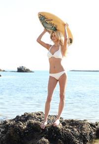 Lesley Anne Bazant in a bikini